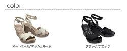 【クロックスcrocsレディース】leigh2.0crossstrapanklewedge/レイ2.0クロスストラップアンクルウェッジウィメン