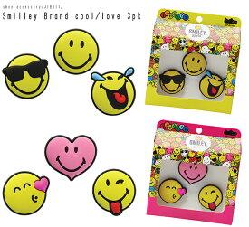【クロックス jibbitz ジビッツ】Smiley Brand cool/love 3pk