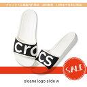 【クロックス crocs レディース】sloane logo slide/スローン ロゴ スライド ウィメン