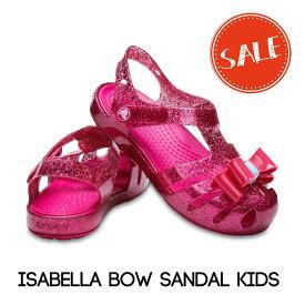 【クロックス crocs キッズ】isabella bow sandal kids/イザベラ ボウ サンダル キッズ