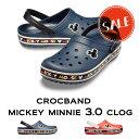 【クロックス crocs 】crocband mickey minnie3.0 clog/クロックバンド ミッキー ミニー3.0 クロッグ/メンズ レディース