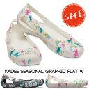 【クロックス crocs レディース】kadee seasonal graphic flat/カディ シーズナル グラフィック フラット ウィメン
