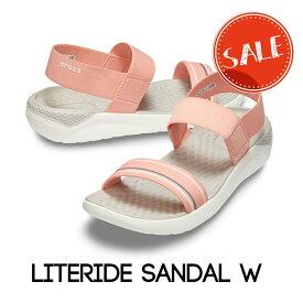 【クロックス crocs レディース】literide sandal/ライトライド サンダル/メロンxホワイト