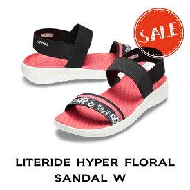 【クロックス crocs レディース】literide hyper floral sandal/ライトライド ハイパーフローラル サンダル