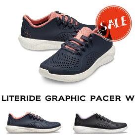 【クロックス crocs レディース s】literide graphic pacer w/ライトライド グラフィック ペイサー ウィメン