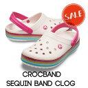 ◇【クロックス crocs 】crocband sequin band clog/クロックバンド シークイン バンド クロッグ/メンズ レディース