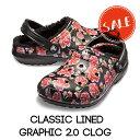 ●【クロックス crocs 】classic lined graphic2.0 clog/クラシック ラインド グラフィック2.0 クロッグ/メンズ レディース