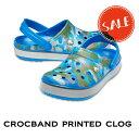 ◇【クロックス crocs 】crocband printed clog/クロックバンド プリンテッド クロッグ/メンズ レディース/ブライトコバルトxアーミーグリーン
