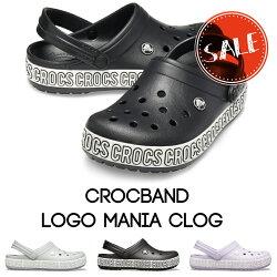 【クロックスcrocs】crocbandlogomaniaclog/クロックバンドロゴマニアクロッグ/メンズレディース