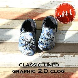 【クロックスcrocs】classiclinedgraphic2.0clog/クラシックラインドグラフィック2.0クロッグ/メンズレディース