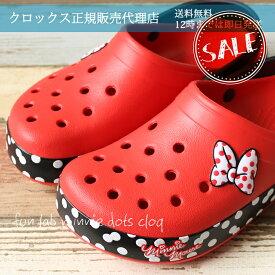 ◇【クロックス crocs 】crocband minnie Dots clog/クロックバンド ミニー ドット クロッグ/メンズ レディース