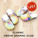 ◇【クロックス crocs 】classic tie dye graphic clog/クラシック タイダイ グラフィック クロッグ /メンズ レディース
