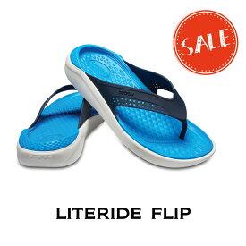 【クロックス crocs メンズ レディース】literide flip/ライトライド フリップ/ネイビー