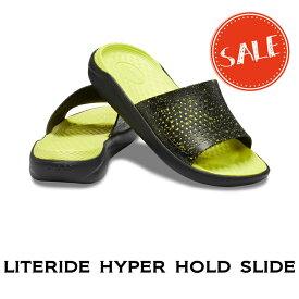 【クロックス crocs メンズ】literide hyper bold slide/ライトライド ハイパー ボールド スライド