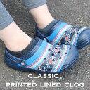 【クロックス crocs ボア】classic printed lined clog/クラシック プリンテッド ラインド クロッグ/メンズ レディース