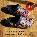 ●【クロックス crocs 】classic lined graphic2.0 clog/クラシック ラインド グラフィック2.0 クロッグ/メンズ レデ…