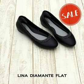 【クロックス crocs レディース】lina diamante flat/リナ ディアマンテ フラット ウィメン/パンプス