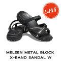 【クロックスcrocsレディース】meleenmetalblockx-bandsandalw/メレーンメタルブロックエックスバンドサンダルウィメン☆★☆