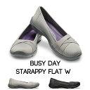 【クロックス crocs レディース b】busyday strappy flat/ビジーデイ ストラッピー フラット