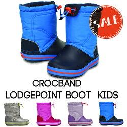 【クロックスcrocsキッズ】crocbandlodgepointbootkids/クロックバンドロッジポイントブーツキッズ
