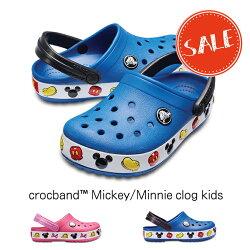 【クロックスcrocsキッズ】crocbandMickey/Minnieclogkids/クロックバンドミッキー/ミニークロッグキッズ