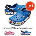 【クロックス crocs キッズ】crocband Mickey/Minnie clog kids/クロックバンド ミッキー/ミニー クロッグ キッズ