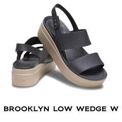 【クロックスcrocsレディースb】brooklynlowwedge/ブルックリンロウウェッジウィメン