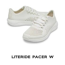 【クロックス crocs レディース】literide pacer W/ライトライド ペイサー ウィメン/オルモストホワイト
