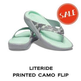 【クロックス crocs メンズ レディース】literide printed camo flip/ライトライド プリンテッド カモ フリップ