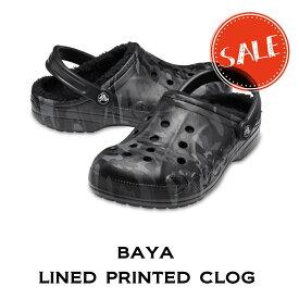 【クロックス crocs メンズ レディース ボア】baya lined printed clog/バヤ ラインド プリンテッド クロッグ