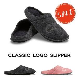 【クロックス crocs 】classic logo slipper/クラシック ロゴ スリッパー/メンズ レディース/室内履き