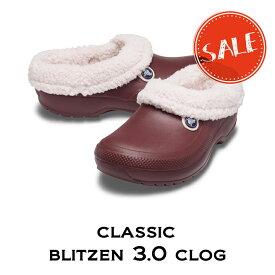 【クロックス crocs メンズ レディース ボア】classic blitzen3.0 clog/クラシック ブリッツェン 3.0クロッグ/バーガンディxバレリーピンク