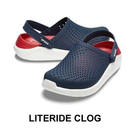 【クロックス crocs メンズ レディース】Literide Clog/ライトライド クロッグ/ネイビーxペッパー