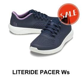 【クロックス crocs レディース】LiteRide Pacer Ws/ライトライド ペイサー ウィメン/ネイビーxオーキッド