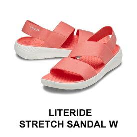 【クロックス crocs レディース】literide stretch sandal/ライトライド ストレッチ サンダル/フレスコ