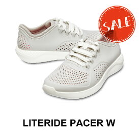 【クロックス crocs レディース s】literide pacer w/ライトライド ペイサー ウィメン/パールホワイト