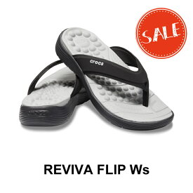 【クロックス crocs レディース】reviva flip w/リバイバ フリップ ウィメン/ブラックxブラック