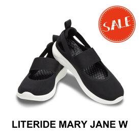 【クロックス crocs レディース b】literide mary jane/ライトライド メリージェーン/ブラックxホワイト