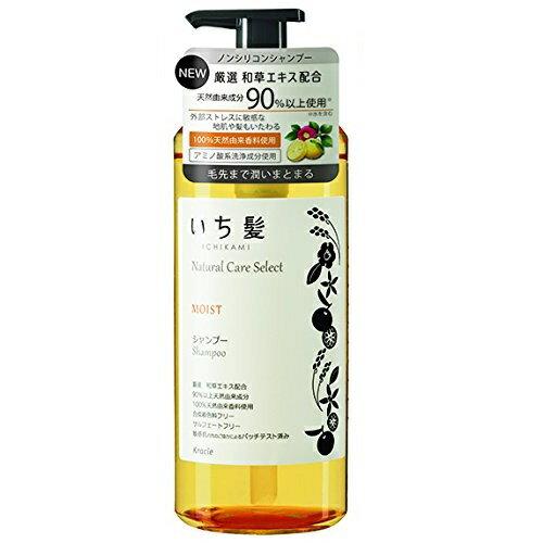 いち髪 ナチュラルケアセレクト モイストシャンプー ポンプ 480mL シトラスフローラルの香り