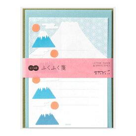 ミドリ 便箋 レターセット 479 ふくふく 富士山柄