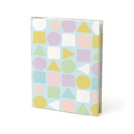 ミドリ ブックカバー 文庫サイズ 紙 幾何学柄