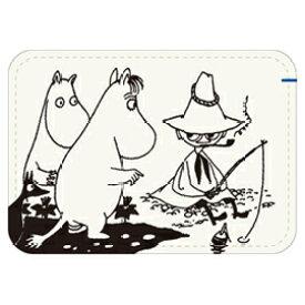 学研 カードケース 刺繍合皮カードケース ムーミン ホワイト