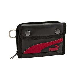 クツワ 財布 PUMA レザ−ミドルウォレット ブラック プーマ