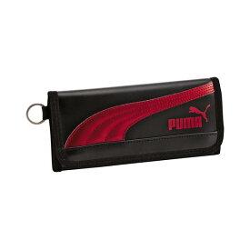 クツワ 財布 PUMA レザ−ロングウオレット ブラック プーマ