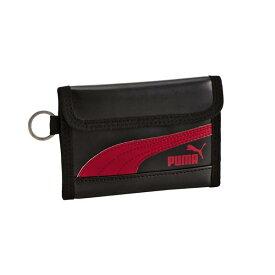 クツワ 財布 PUMA レザ−スリムウオレット ブラック プーマ