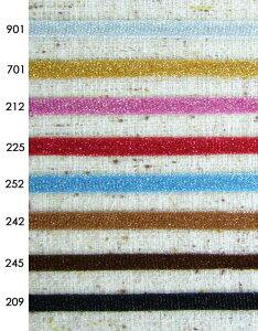 ブリリアンテープ 18mm《1反購入50%オフ》キラキラのニット編みラメテープです。901カラーからの染色も可能。※商品の特性上、表記サイズより多少前後する場合がございます。ご了承願いま