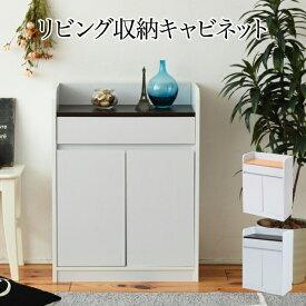 【送料無料】薄型リビングジュニア リビング収納キャビネット