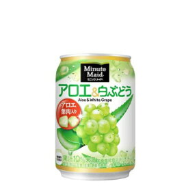 送料無料 ミニッツメイドアロエ&白ぶどう 280g缶×24本 コカ・コーラ