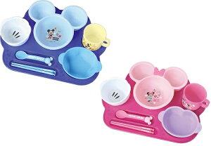 ミッキーマウス ミニーマウス まんぞくプレート ベビー 赤ちゃん 用品 ディズニー 離乳食 食器 セット お食い初め ハーフバースデー お祝い ギフト 送料無料