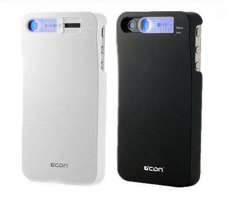 送料無料 AREA/エアリア iPhone4/4Sケース マクロレンズ搭載 iOptic4sBK(ブラック)WH(ホワイト)